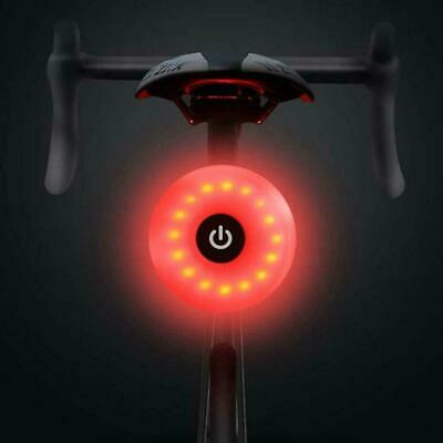 Bike Rear Tail Light LED USB Rechargeable Bicycle Warning Safety Smart Lamp UK