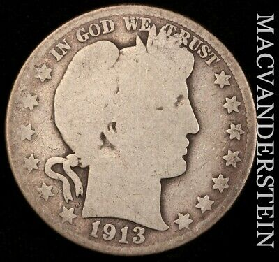 1913 Barber Half Dollar- Scarce !! Key Date !! #f1148