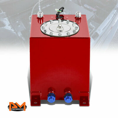 "SENDER 20X18X10/"" 15.5 GALLON LIGHTWEIGHT RACE RED ALUMINUM GAS FUEL CELL TANK"