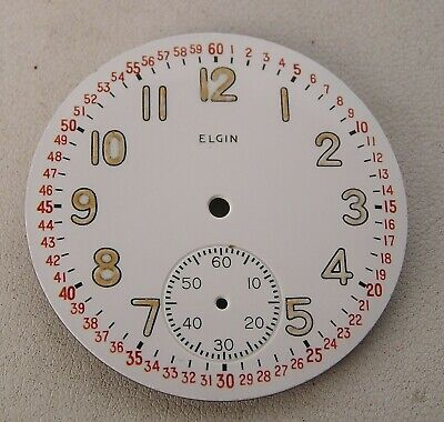 Awesome NOS 16 Size 16s Elgin Porcelain Montgomery Dial w/ Luminous #'s Military