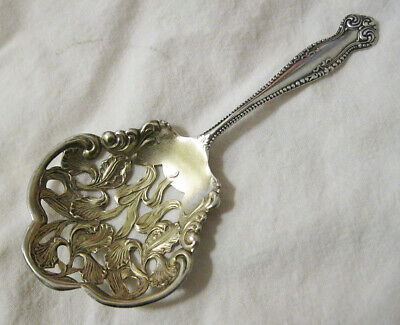 Sterling Silver Almond Scoop Canterbury Towle 1893 Gold Wash Nut Candy Spoon