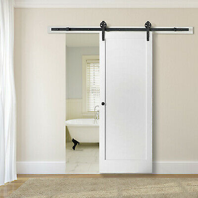 6.6FT Sliding Barn Door Hardware Kit Set Pack Modern Style Fashion Home Beautify