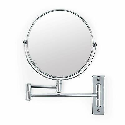 """12"""" Wall Mounted Extending Folding Double Side 10x Magnification Mirror Bathroom"""