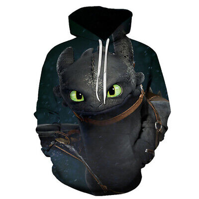 New 3D Print Film How To Train Your Dragon Hoodie Pullover  Women Men Sweatshirt