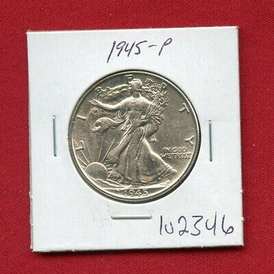 1945 Walking Liberty Silver Half Dollar #102346 $ High Grade Us Mint Rare Estate