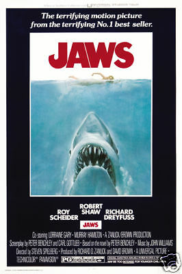 Jaws cult horror movie poster print Print A11