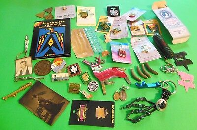 JUNK DRAWER Lot of 105 Items-Tin Type-Military Buttons-Watches-Charm Bracelet