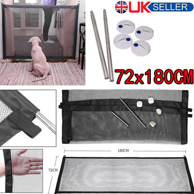 HOT Pet Dog Gate Safe Guard And Install Anywhere Pet Safety Enclosure