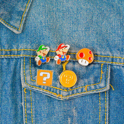 Super Mario Bros Collector Pins cute badge