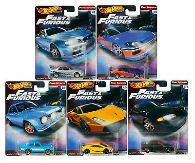 2019 Hot Wheels Fast & Furious Fast Imports Premium 1/64 Set Of 5 Real Riders