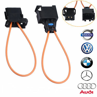 Pair MOST fiber optic loop bypass MALE& FEMALE kit adapter for Audi BMW MERCEDES