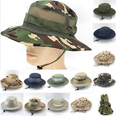 NEW Mens Fishing Hunting Bucket Hat Boonie Military Outdoor Wide Brim Sun Cap