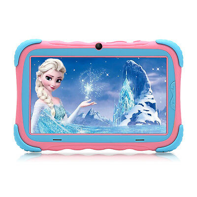 iRULU 7 Inch Tablet PC for Kids Android 7.0 4-Core 16GB Dual Cameras WI-FI PINK