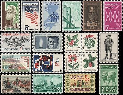 US #1242-1260 MNH 1964 commemorative year set of 19 stamps