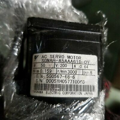 1PC Used Yaskawa Servo Motor SGMAH-A5AAA61D-OY Tested In Good Condition