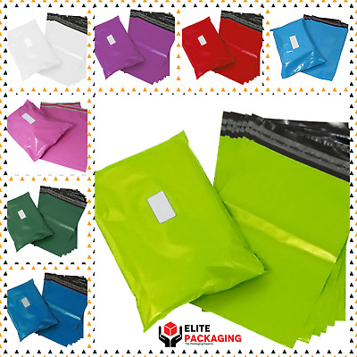 Coloured Color Mailing Bags Plastic Mail Postage Post Polythene Strong All Sizes