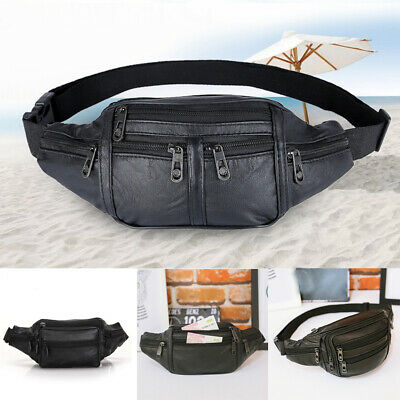 Men Korean Leather Cycling Bike Hip Bag Sport Fanny Pack Waist Thigh Leg Bag US