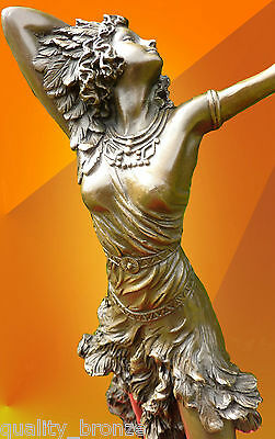 Bronze Statue Colinet Sun Dancer Signed Dancer Statue Sculpture Hot Cast Figure