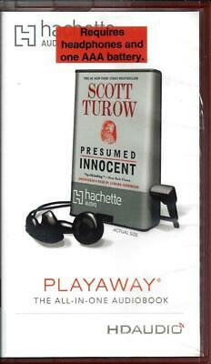 Presumed Innocent by Scott Turow & Edward Herrmann Unabridged Playaway AudioBook