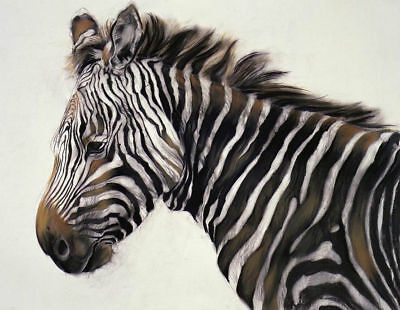 LMOP328  hand painted charm animal zebra wall decor art oil painting on canvas