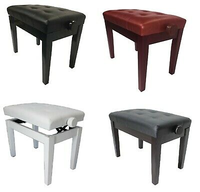 Sonata Piano Stools (Adjustable with Vinyl Button Top) - Various colours KB201..