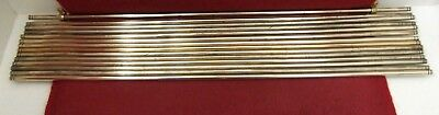 Fourteen Solid Brass Stair Rods With Fittings
