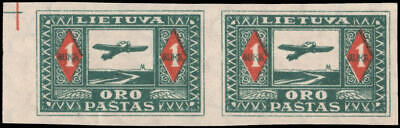 Lithuania #C5a MH imperf pair