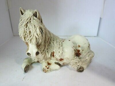 Vintage Cheval Horse Laying Down Ceramic Figurine - 26B