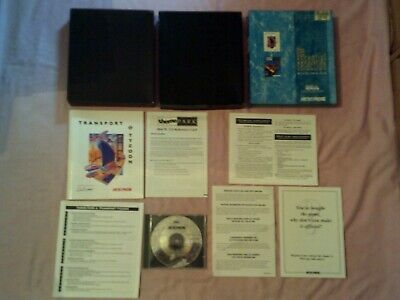 TRANSPORT TYCOON & Theme Park - 2 1994 Business Pc Games - Rare Big Box  Edition