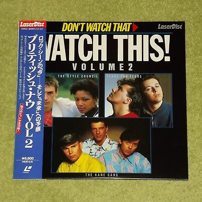 DON'T WATCH THAT WATCH THIS Vol. 2 [Tears For Fears] 1985 JAPAN LASERDISC + OBI