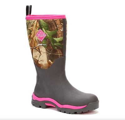 a3038932886 NEW MUCK BOOTS Woody Pink Real Tree Camo Womens Snow Rain Work Boot ...