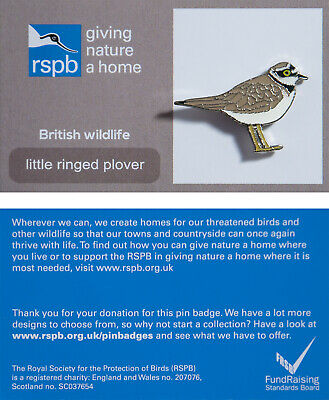 RSPB Pin Badge | little ringed plover GNAH (01183)