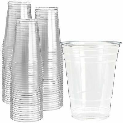 Pack Of 200 Pint/Half Pint Plastic Glasses Clear Plastic Cups For Beer, Tumblers