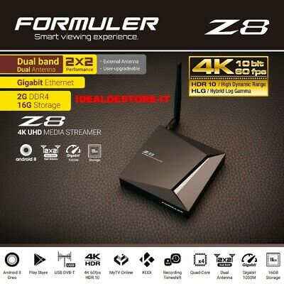 FORMULER Z8 IPTV 4K Set-Top Box Android 8 Oreo RAM 2Go/16Go FLASH WiFi (VIERGE)