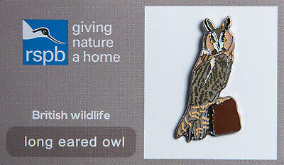 RSPB Pin Badge | long eared owl GNAH (00347)