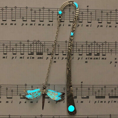 Luminous Night Dragonfly Bookmark Label Read Maker Feather Book Mark Stationery
