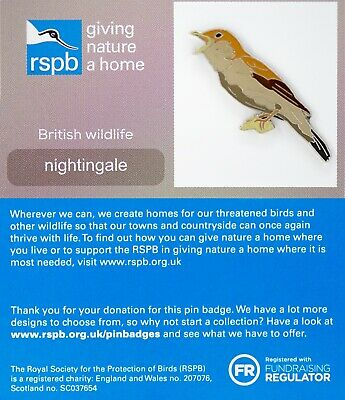 RSPB Pin Badge | nightingale GNAH (01381)