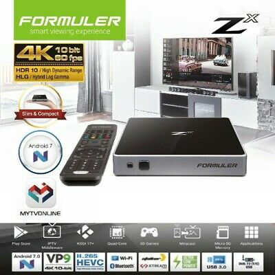 FORMULER Zx IPTV 4K Set-Top Box Android 7.0 RAM 1Go/8Go FLASH WiFi (VIERGE)
