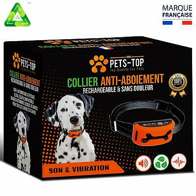 One PETS-TOP Collier Anti Aboiement Chien Rechargeable【Version 2019】 sans Choc