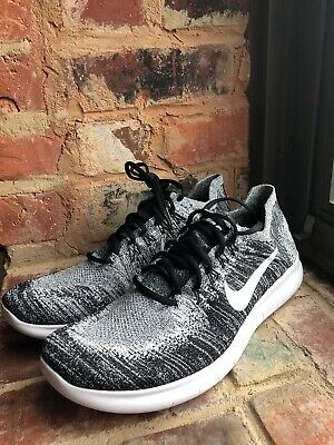best authentic 0f218 64a32 Nike Free RN Flyknit 2017 Running Shoes Sz 11.5 White Black Oreo 880843 003  NEW