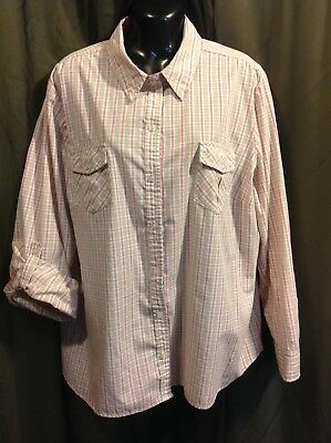 3d4712c77261e5 LAURA SCOTT WOMAN Long Sleeve Plaid Blouse Women s SIZE 16 18W
