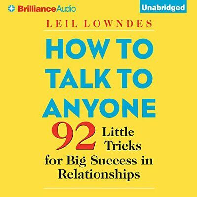 How to Talk to Anyone: 92 Little Tricks for Big Success in -AudioBook - No CD