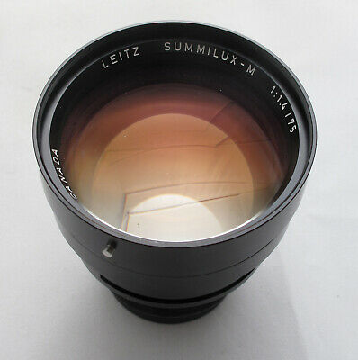 Leica SUMMILUX-M 75mm f/1.4 Lens PARTS / REPAIR ONLY CLEAN REPAIR