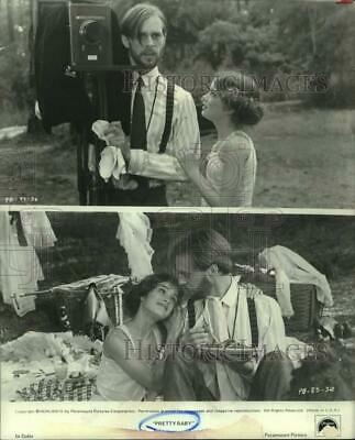 """1988 Press Photo Brooke Shields and Keith Carradine act in """"Pretty Baby"""""""