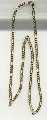 14Kt Gold Plated 16 Inch 4Mm Figaro Chain Necklace