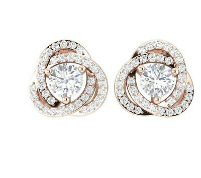 Removable Jacket Studs Earrings Natural Diamond SI1 G 1.50 Ct 14K Gold Prong Set