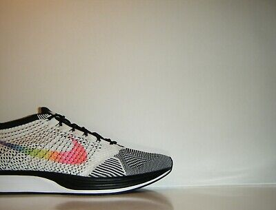370fc4c9d420a 2017 Nike Flyknit Racer BETRUE MultiColor White Black 12.5 SP Trainer  902366-100