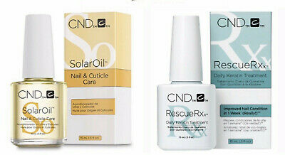 CND Duo Set~  Rescue Rxx DAILY KERATIN TREATMENT 15ml and CND SOLAR OIL 15ml ~
