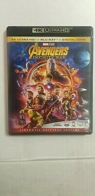 Avengers: Infinity War (Blu-ray, 2018) **CANADIAN DIGITAL CODE And 4k BLU RAY