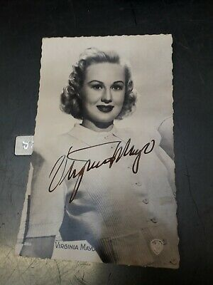 Autograph Postcard Signed By Virginia Mayo